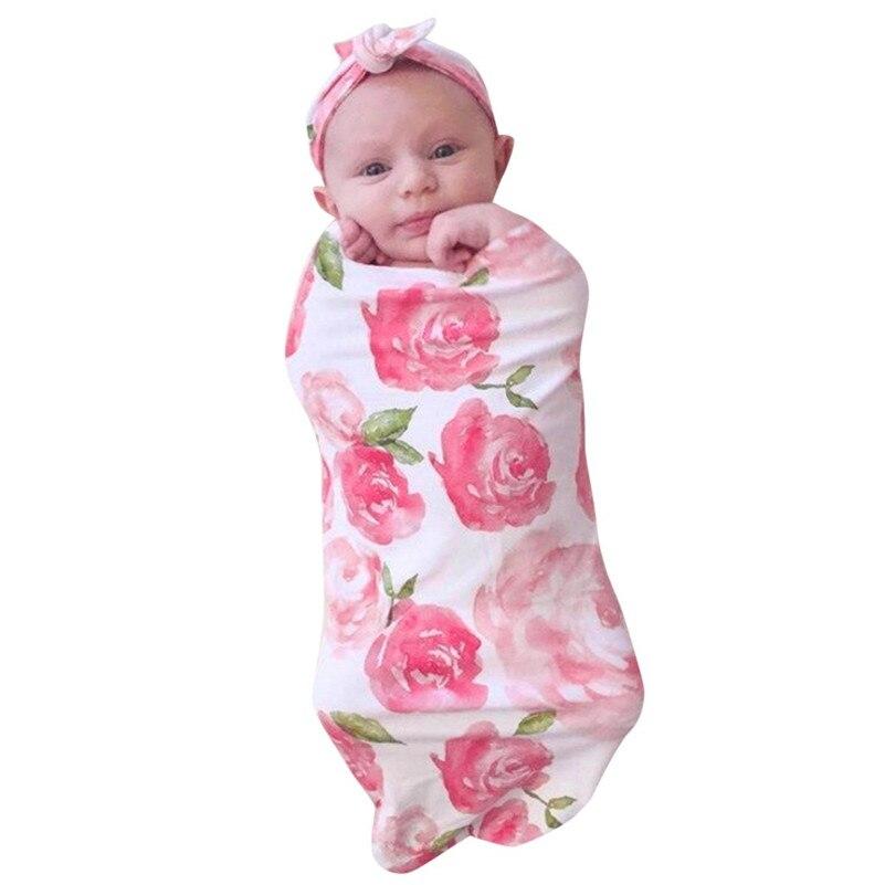 Newborn Baby Blanket Swaddle Print Sleeping Bag Kids Sleep Sack Stroller Wrap  New Born Photography  0-3 Months Baby Wrap F1