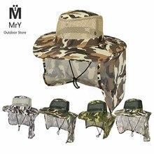 MrY Рыбацкая шляпа с широкими полями, дышащая сетка, унисекс, для спорта на открытом воздухе, для рыбалки, пешего туризма, шляпа с защитой от ультрафиолета, для лица, шеи, с клапаном, Мужская Солнцезащитная шапка