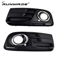 1Pair For 2013 2014 Audi Q5 Front Lower Grille Spray Painting Chrome Styling Left Right Side