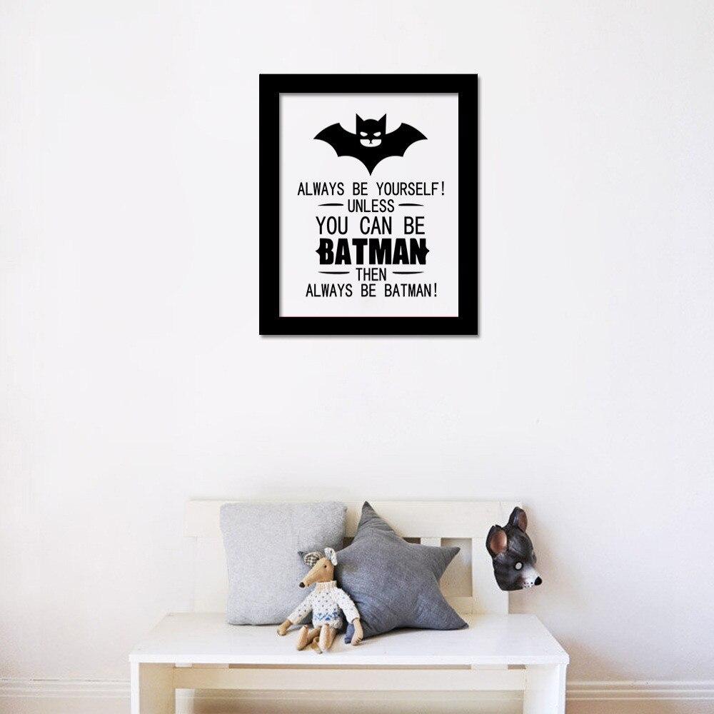 Aliexpress.com : Buy HOT 3D CARTOON Batman Superman Comics Wall Sticker Art  Decals Room Kid Decor Canvas Print Wallpaper Qoute Proverbs NO FRAME From  ... Part 68