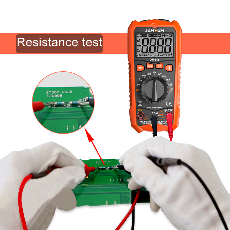 Image 4 - LOMVUM NCV Digital Multimeter 6000 counts Auto Ranging AC/DC voltage Meter Flash Back light Large Screen Ohm Tester Polimetro-in Multimeters from Tools