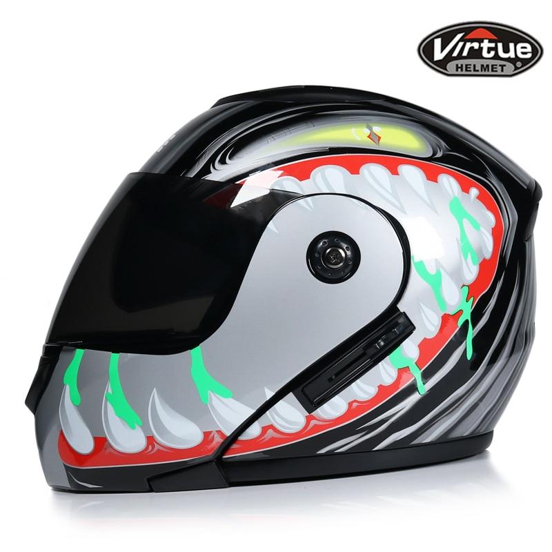 NEW best safe motorcycle helmets dual lens visors flip up motocross helmets warm windproof sand dust