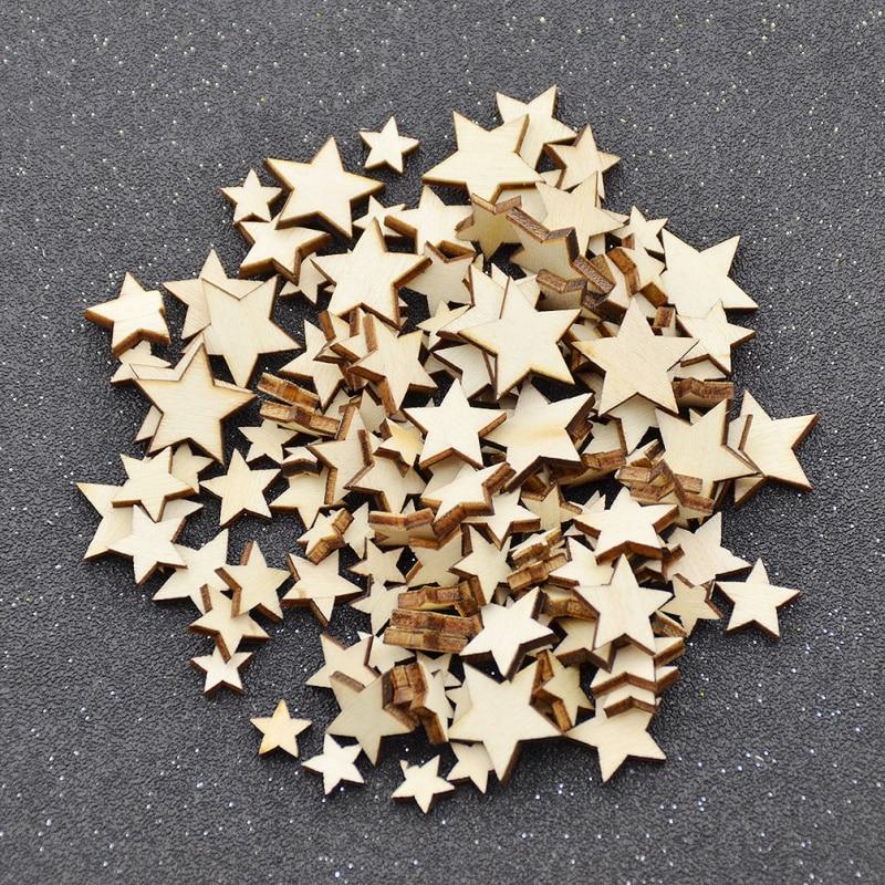 1 set blank unfinished wooden heart star letters crafts laser cut rustic wood wedding diy ornaments - Laser Cut Wood