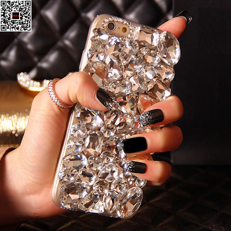 For Samsung Galaxy S9 S8 Plus Bling Shiny Handmad DIY Crystal Diamond Phone Case For iPhone 8 8Plus 7 7Plus 6 6s Plus 4 4s 5 5s
