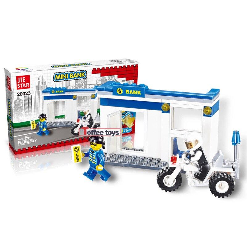 Hot selling Police Station Scale Model Building font b Blocks b font Bricks Toys Simulation Car