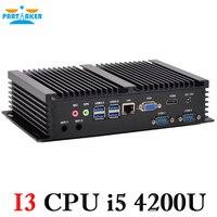Неттоп PC мини ПК Windows8.1 Промышленные ПК Core i5 4200U 1,6 ГГц с безвентиляторный Тихая PC 0.00dB