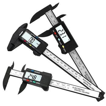 150mm 100mm noniusz suwmiarka 6 4 cal 0 1mm dokładność LCD cyfrowy suwmiarka elektroniczna z włókna węglowego pomiar mikrometryczny narzędzia tanie i dobre opinie OLOEY Maszyny do obróbki drewna 0-150mm Z tworzywa sztucznego Suwmiarki 0-150mm Vernier Calipers 0-150 mm 0-6 inch 0-100 mm 0-4 inch