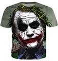 2015 T camisa hombres moda de verano 3D impreso Batman The Joker DC Comics Superhero camiseta Casual de manga corta para hombre Tee Shirts