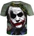 2015 T shirt dos homens de verão moda 3D impresso Batman The Joker DC Comics super herói camiseta Casual manga curta homens t-shirt