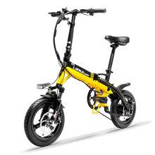 14inch Aluminum alloy electric bike 36V lithium battery Built-in frame Mini folding electric bicycle 350w rear motor bicycle