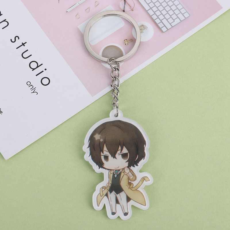 Anime Bungo Stray Dogs Acrylic Keychain Bag Decoration Atsushi JiuGu