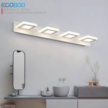 EGOBOO Indoor 12W Led Wall Lamps For Bathroom Lighting Mirror Lights 65cm AC220V/110V Home Deco Acrylic