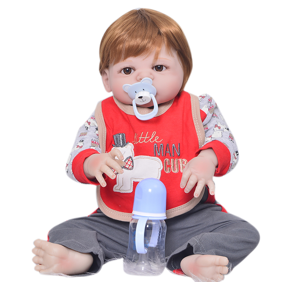 23inch reborn Realistic baby Doll soft silicone Full silicone adorable lifelike bedtime doll Toys collection simulation  doll23inch reborn Realistic baby Doll soft silicone Full silicone adorable lifelike bedtime doll Toys collection simulation  doll