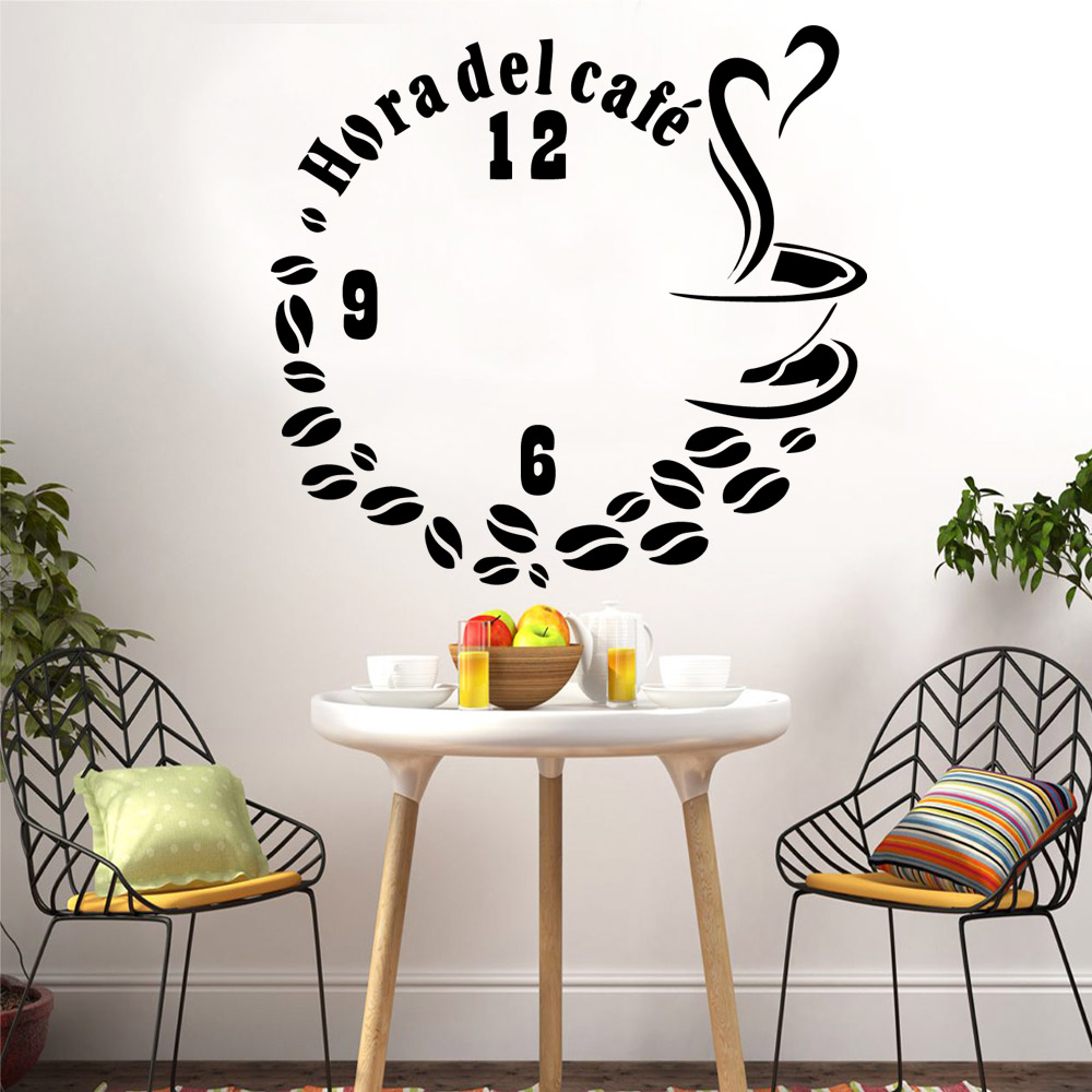 Creative coffee Wall Sticker Home Decoration Accessories vinyl Stickers Wallpaper Kitchen Mural