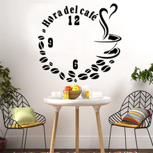 Creative coffee Wall Sticker Home Decoration Accessories vinyl Stickers Wallpaper Kitchen Mural