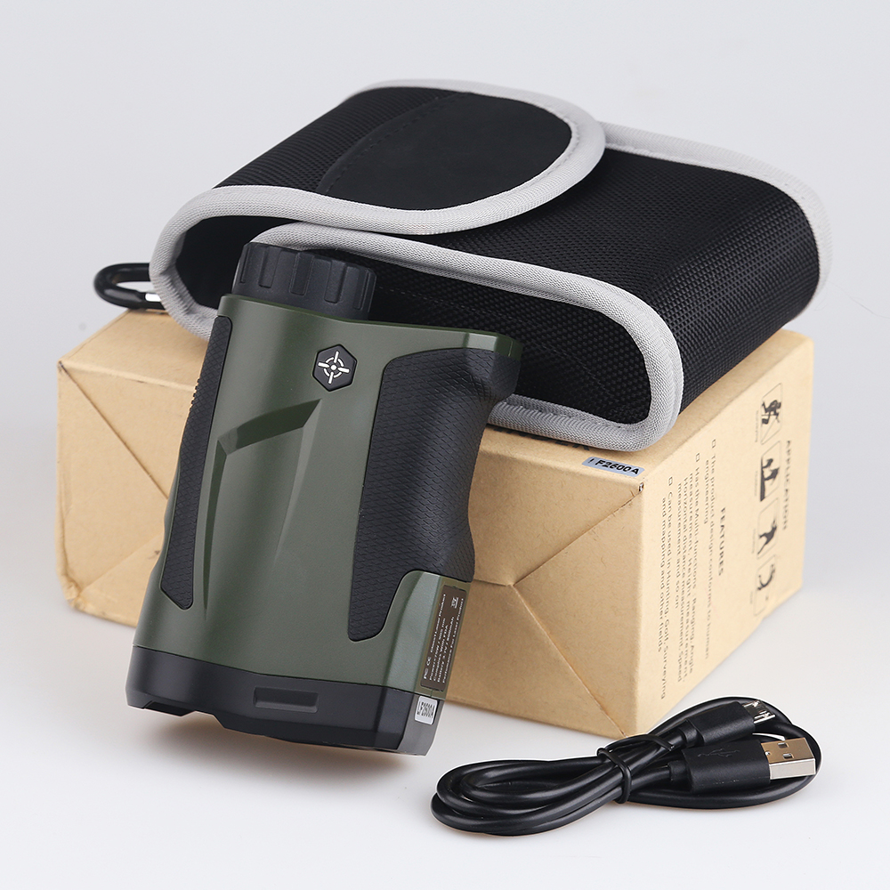 BIJIA 6X22 2500m Distance Telescope Laser Rangefinder for Hunting Golf Laser Range Finder with Height and Angle Measurements