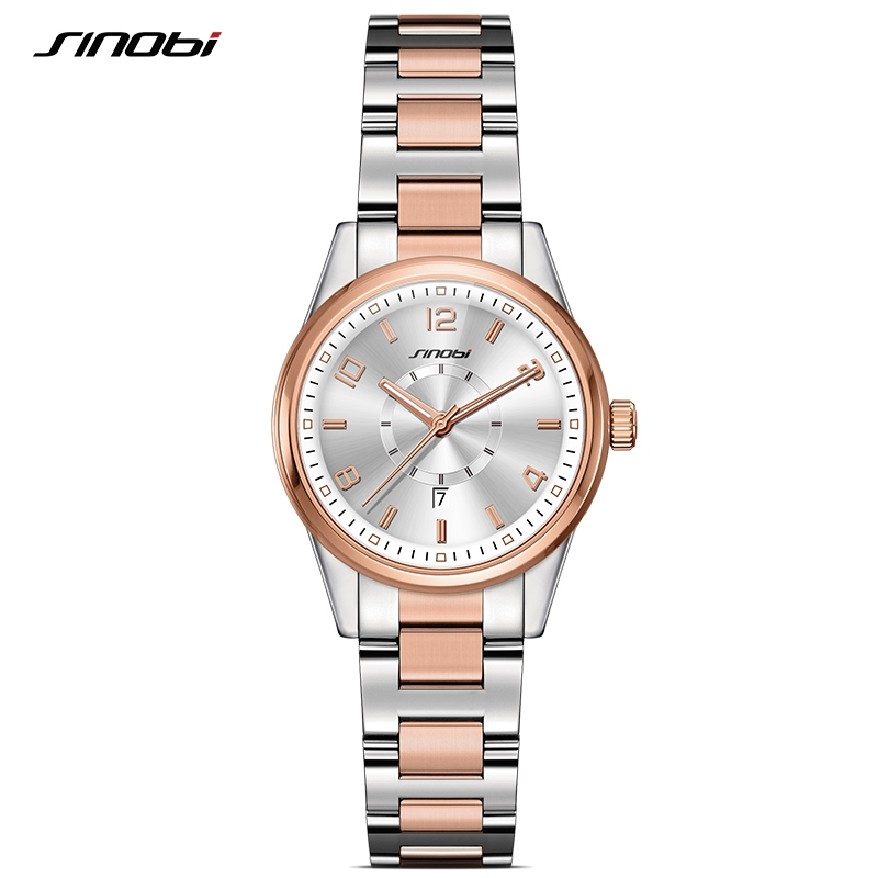 SINOBI Fashioh Women Wrist Watches Golden Watchband Top Brand Luxury Ladies Quartz Clock Female Bracelet watch Montres Femmes mjartoria ladies watches clock women quartz watch simple sport bracelet watch student girl female hand wrist watches for women