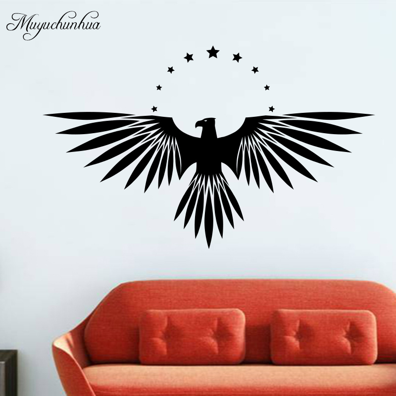 Muyuchunhua Cartoon Art Diy Wall Stickers for Bedroom Decor Accessories Stars Hawk Wall Decal Removable Sticker Home Decor