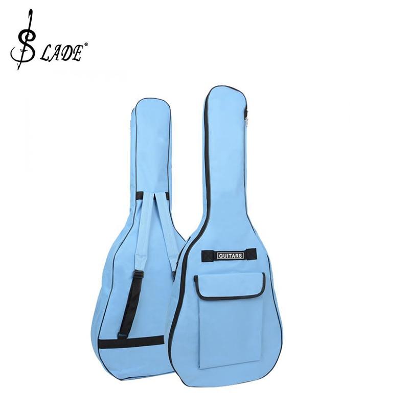 SLADE 40/41 Inch Oxford Fabric Acoustic Guitar Gig Bag Soft Case Double Shoulder Straps Padded Guitar Waterproof Backpack