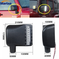 Last Designed High Quality Side View Mirror Cover With Led Turn Signal Light For Jeep Wrangler