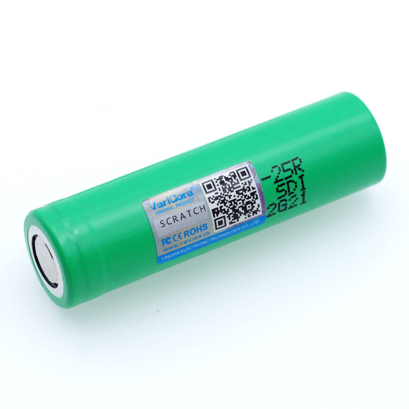 VariCore 18650 2500 mAh Rechargeable battery 3 6V INR1865025R 20A discharge batteries For E cigarette use in Replacement Batteries from Consumer Electronics