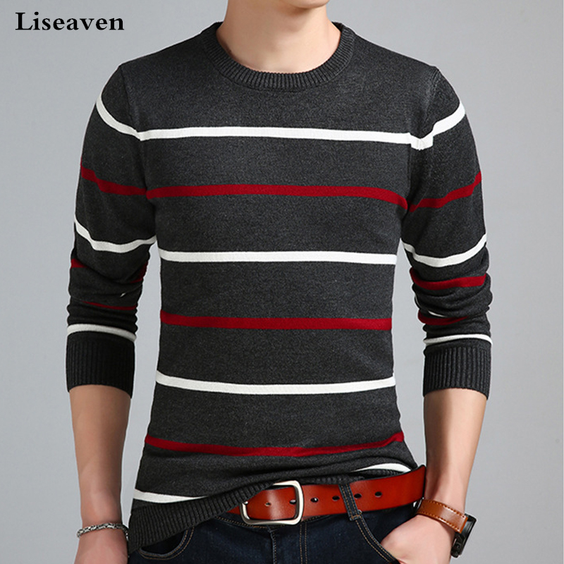 Liseaven Men's Sweaters Pullover Sweater Male Clothing Men Sweater Man Pullovers