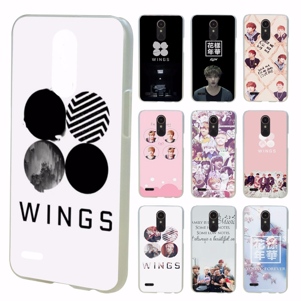 BTS Bangtan Wings album design transparent clear hard case cover for LG G3 G4 G5 G6 K4 K5 K8 K10 V10 V20 K10 2017