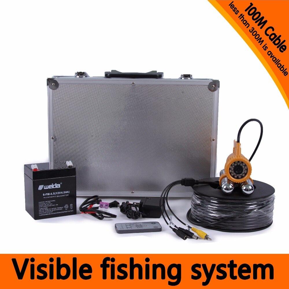 100 м 600TVL подводная аудио/видео эндоскоп With7 дюймов ЖК дисплей Дисплей