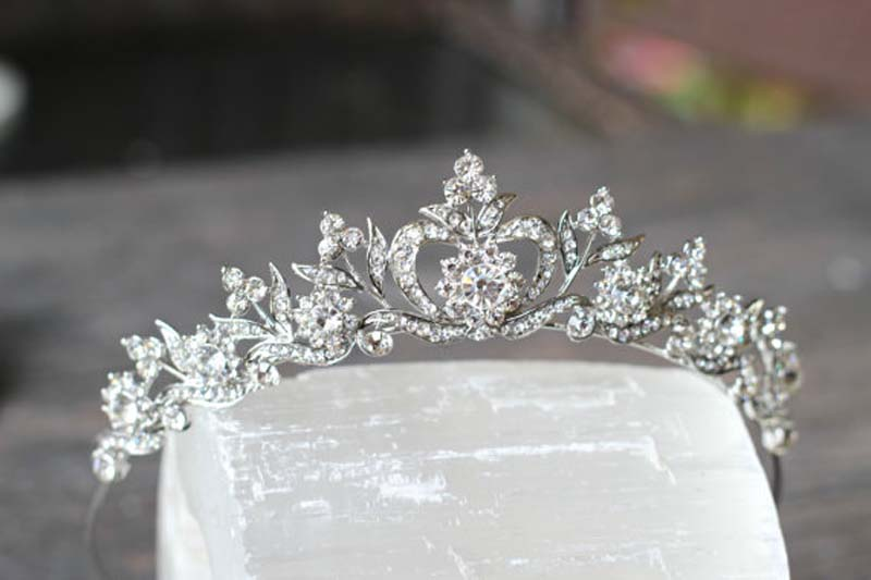 New style Hair Jewelry Vintage Silver Gold Crystal Tiara Princess Wedding Crown For Women Wedding Hair Accessories Headdress 5