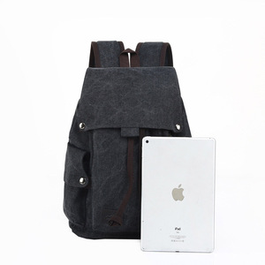 Image 4 - Mens Laptop Computer Backpack High quality Canvas Backpacks Teenage School Bag Fashion Travel Backpack Large Capacity Daypacks