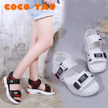 Rhinestonew Muffin Thick-soled Sandals Female Summer Korean Students Fashion Beach Romansoles Women Shoes Wedge