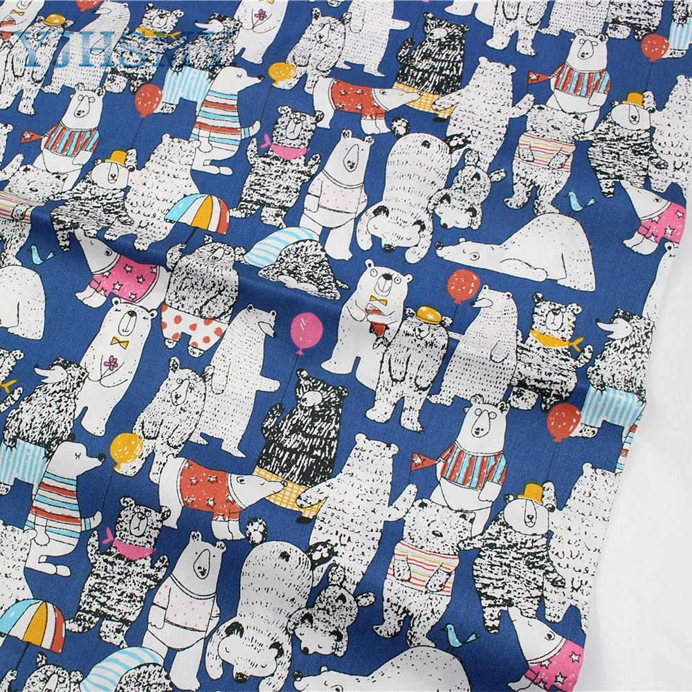 YJHSMY 177022, tela de algodón de dibujos animados, ancho 50 x160cm/uds, juegos de cama de cuna hechos a mano DIY, almohadas, manteles, forros de cama de bebé