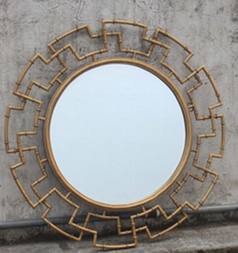Mr 2q0193 Metal Frame Wall Decorative With Gold Mirror