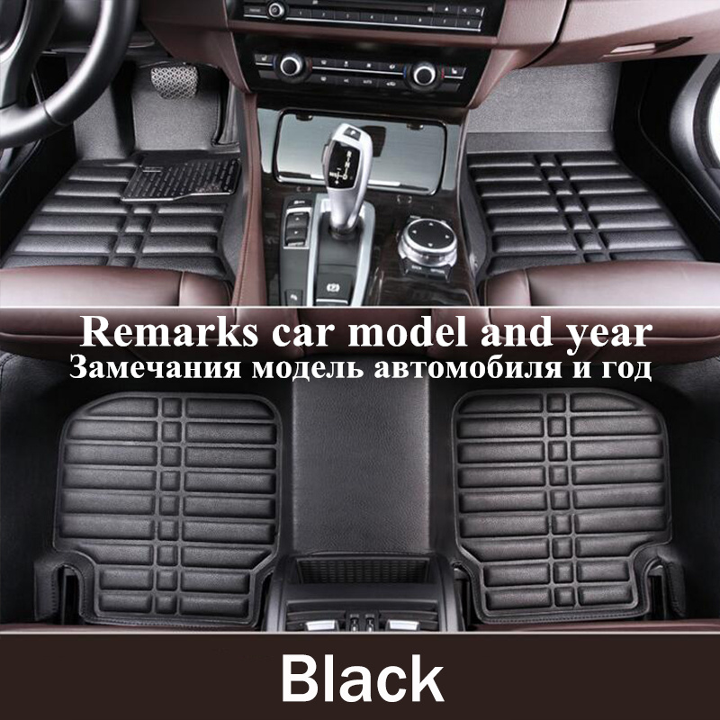 TENGRUI Car-Styling Carpet Custom Car Floor Mats for Audi A1 A3 A4 A4l A5 A6 A6L A7 A8 Q ...