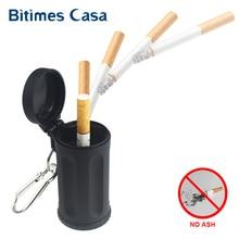 Прочная портативная карманная пепельница для общественного дыма для Iqos, карамельный цвет, АБС пепельница для автомобиля, мини итальянская пляжная пепельница