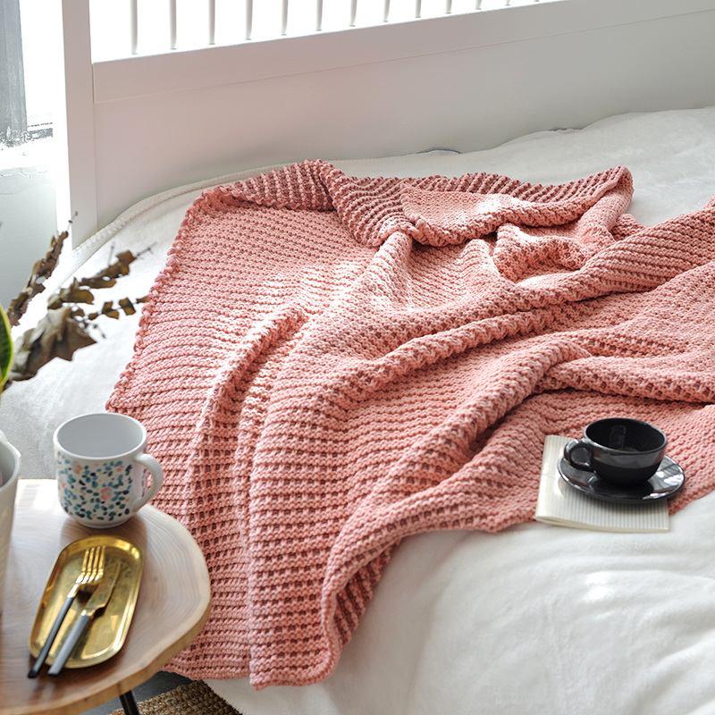 Waffle Weave plaid Thermal Blanket All Season Breathable weighted Blankets Perfect for Bed Home Decor summer knitted quilt in Blankets from Home Garden
