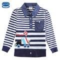 Meninos Roupas Meninos t camisas Dos Miúdos T Meninos Inverno do bebê topo tees 2016 Moda 2-6 Anos de Turn-down Collar Camisas para meninos A5832