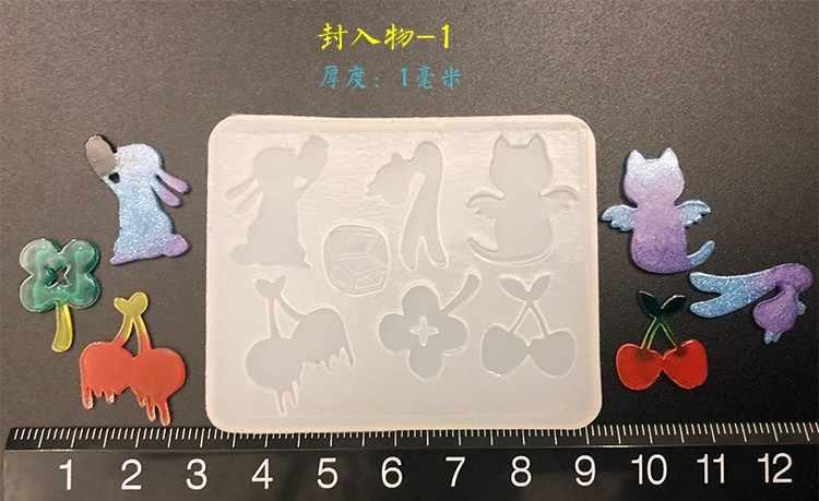 Baru Transparan Silikon Cetakan Resin Kerajinan Dekoratif DIY Ice Cream Kucing Cherry Tipe Kombinasi Epoxy Resin Cetakan untuk Perhiasan