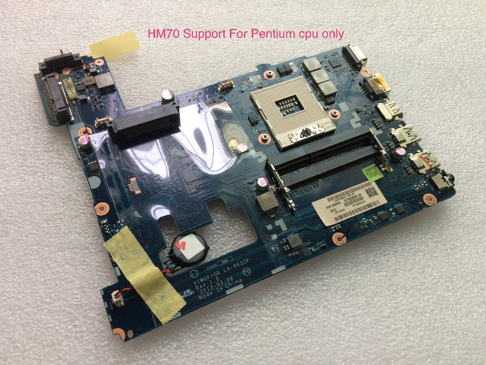 working perfectly For Lenovo G500 Laptop Motherboard VIWGP/GR LA-9632P mainboard HM70 (support For pentium cpu only ) for lenovo laptop motherboard g570 piwg2 la 6753p hm65 ddr3 pga989 mainboard
