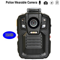 Police Camera Ambarella 2.0 HD 1296P IR Night Vision Wearable Police Camera GPS Remote Control HDMI Video Recorder Body Camera
