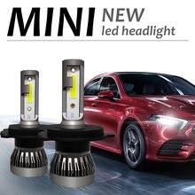 Комплект из 2 предметов, мини H4 H7 светодиодный фар автомобиля Kit 90W 12000LM/комплект H1 H11 9005 HB3 9006 HB4 H8 H9 6000 К лампы автомобильные аксессуары