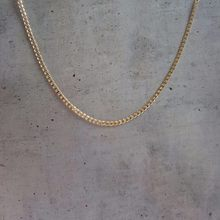 Yellow Gold Color Thin Curb Chain Chokers Short to Long Necklaces For Women Girls Boys Kids Baby Children Jewelry Kolye Collier(China)