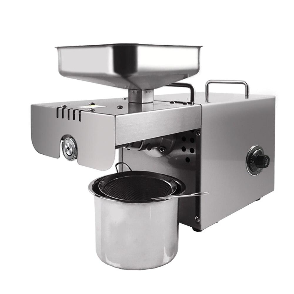 Mini presse à huile à usage domestique machine de contrôle de température automatique extraction d'huile multifonctionnelle expulseur d'huile