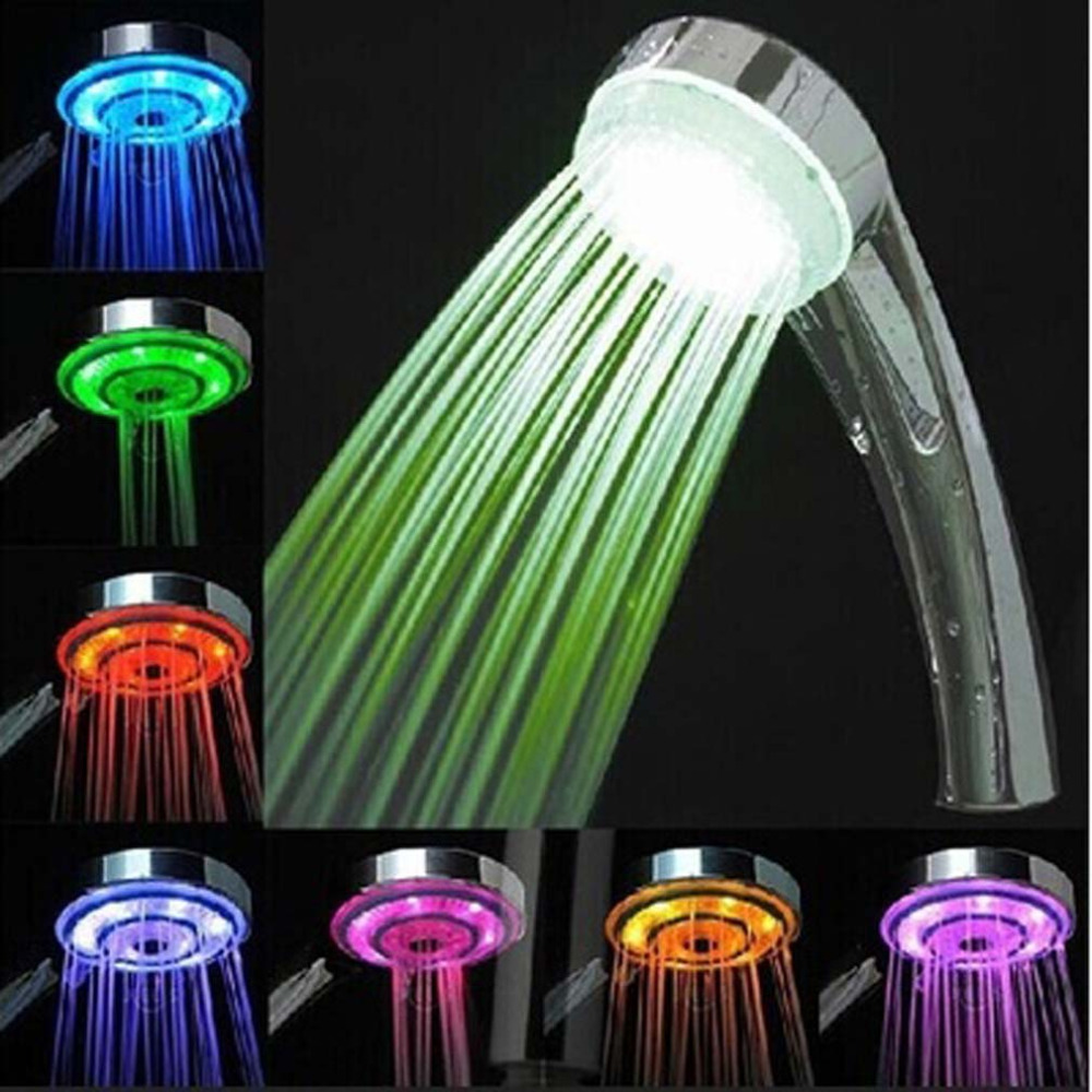 Hot Sale Automatic Control RGB 7 color changing LED Shower Head Sprinkler  Romantic Colorful Lighting Bathroom. Popular Hot Showers Buy Cheap Hot Showers lots from China Hot