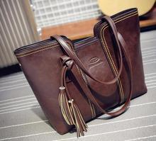 Business women single shoulder bags casual totes women tassel handbags new fashion ladies totes handbags European sstyle
