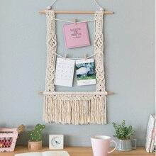 Tapeçaria de parede de macrame, decoração boho, combinação, moderno e minimalista, para pendurar fotos, moldura de parede
