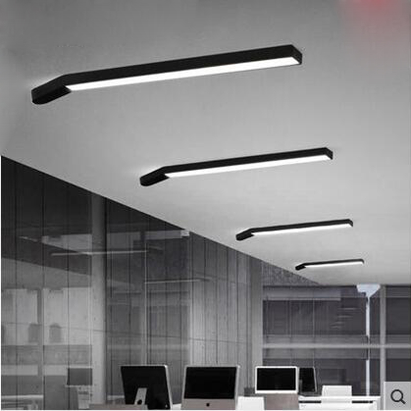 Simple Personality Office Ceiling Lamp Long Strip Originality LED Modern  Balcony Corridor Lighting For Bedroom Living Room  In Ceiling Lights From  Lights ...