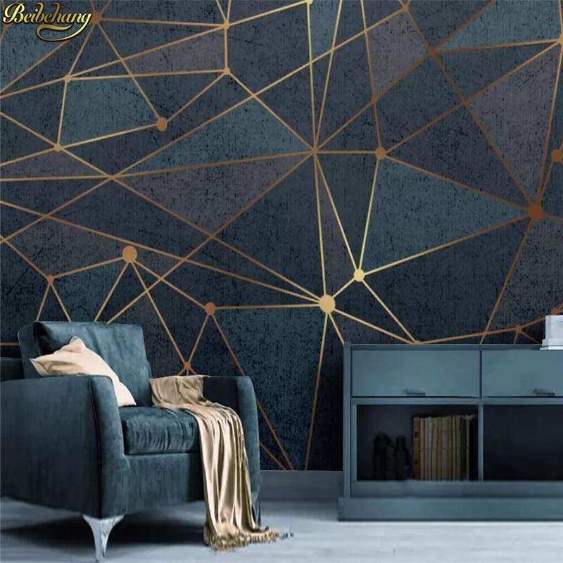Beibehang Custom Wallpaper Home Decor Living Room Bedroom: Beibehang Custom Abstract Geometric Lines Mural Wallpaper