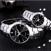 DOM 698 Top Brand Luxury Quartz Fashion Men's Watches Lovers Women Wrist Watch Steel Waterproof Luxury stainless steel Clocks