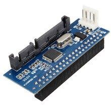 Высокое качество 40 Булавки 3.5 IDE до 7 + 15 22 Булавки SATA Мужской адаптер внутренний жесткий диск карты адаптера для корпуса для жёстких дисков
